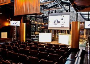 Vidéo-projection et rappel écrans plats pour conférence ADP à La Gare