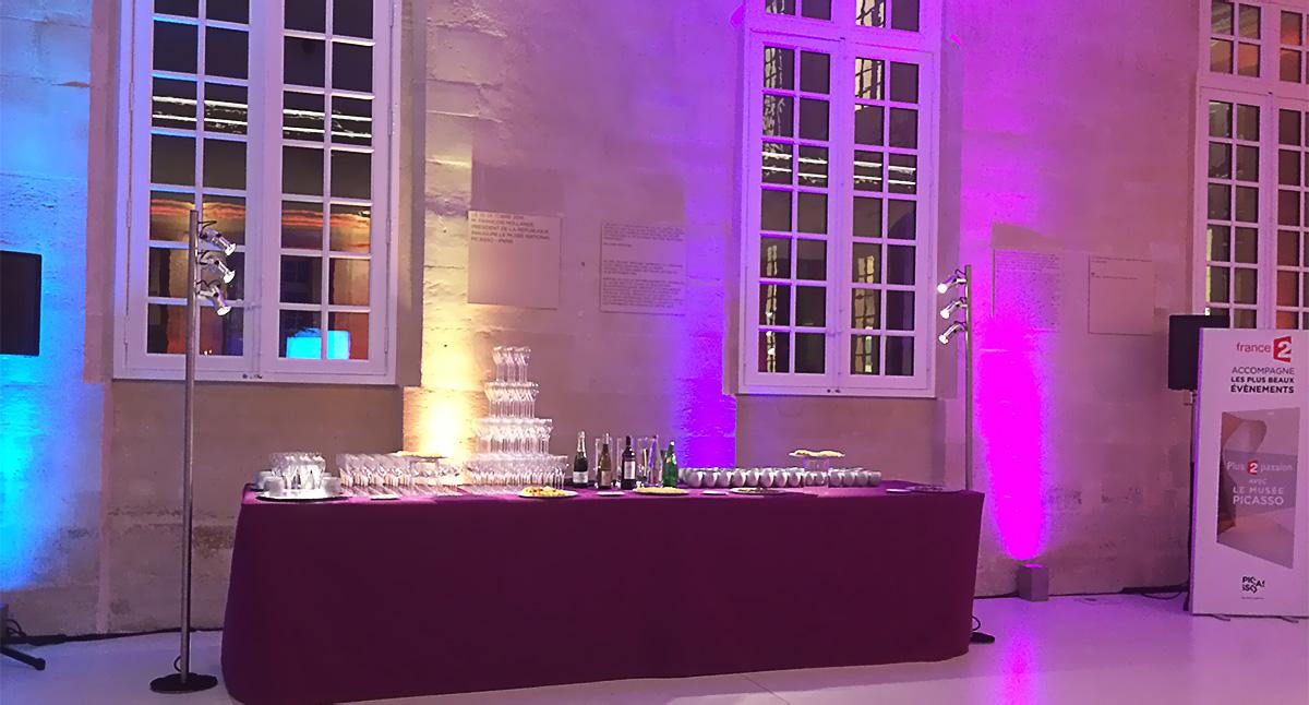 Eclairage buffet au musée Picasso