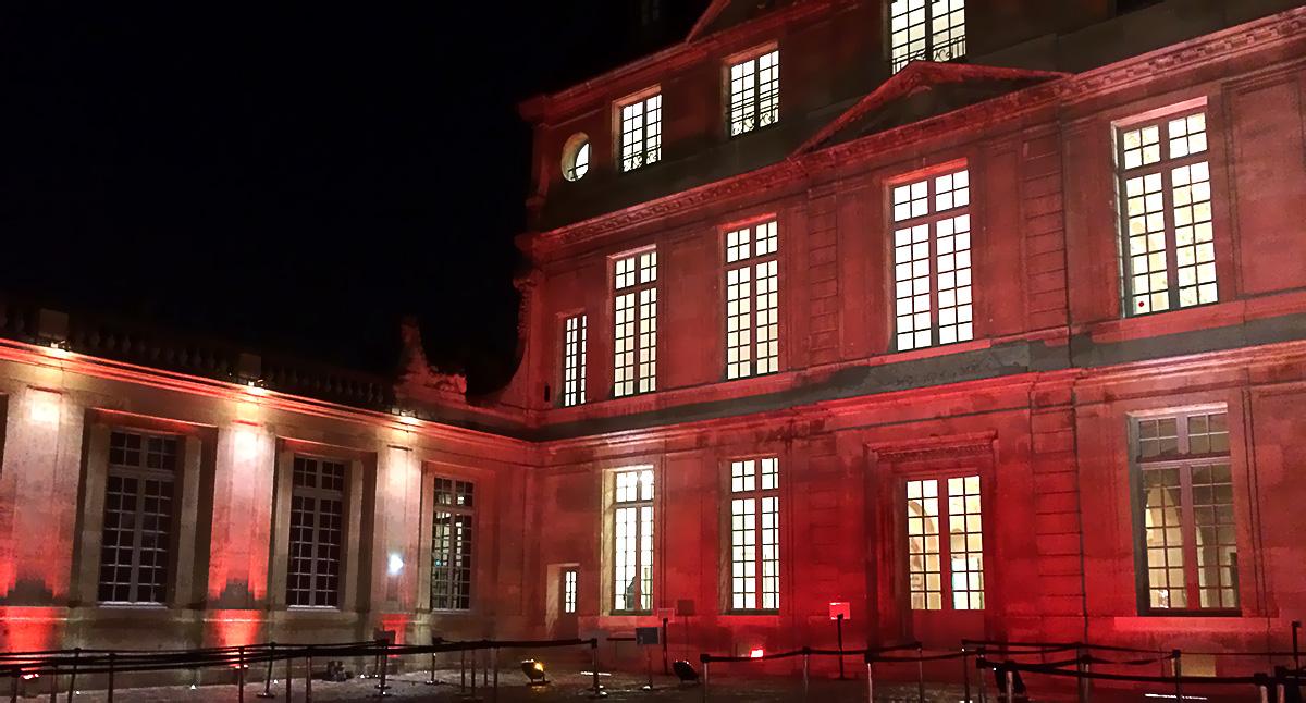 Illumination extérieur du musée Picasso