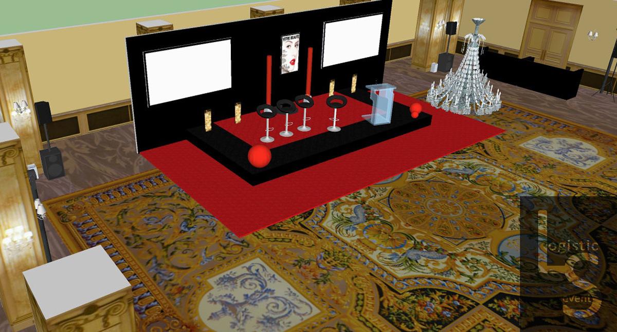 plan 3D pour préparation prestation
