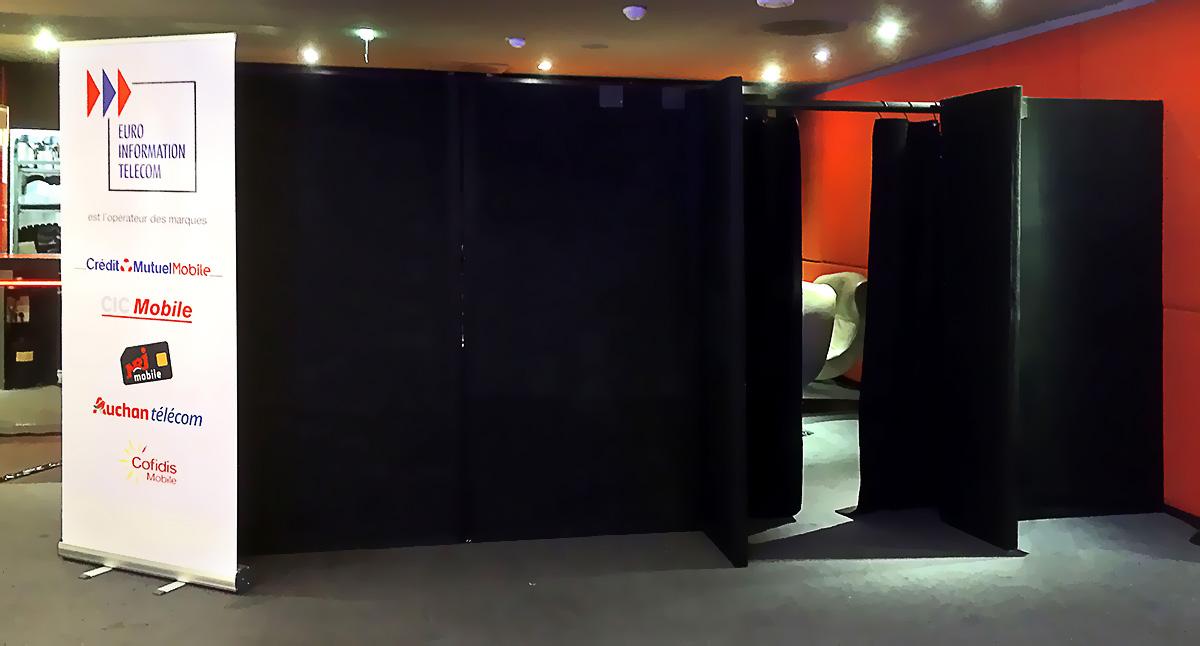 Mise en place d'une loge éphémère pour le concert privé de Calogero à la Brasserie Printemps