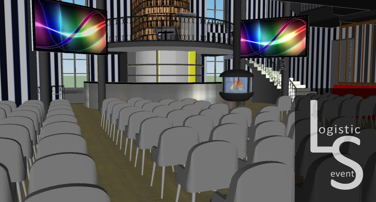 Plan 3D pour la préparation de la prestation Franco Suisse