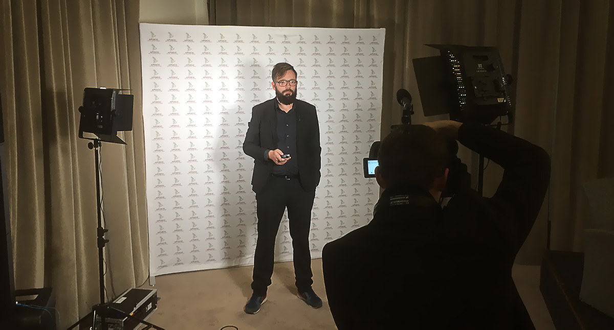 Captation vidéo des interviews pour AFDCC